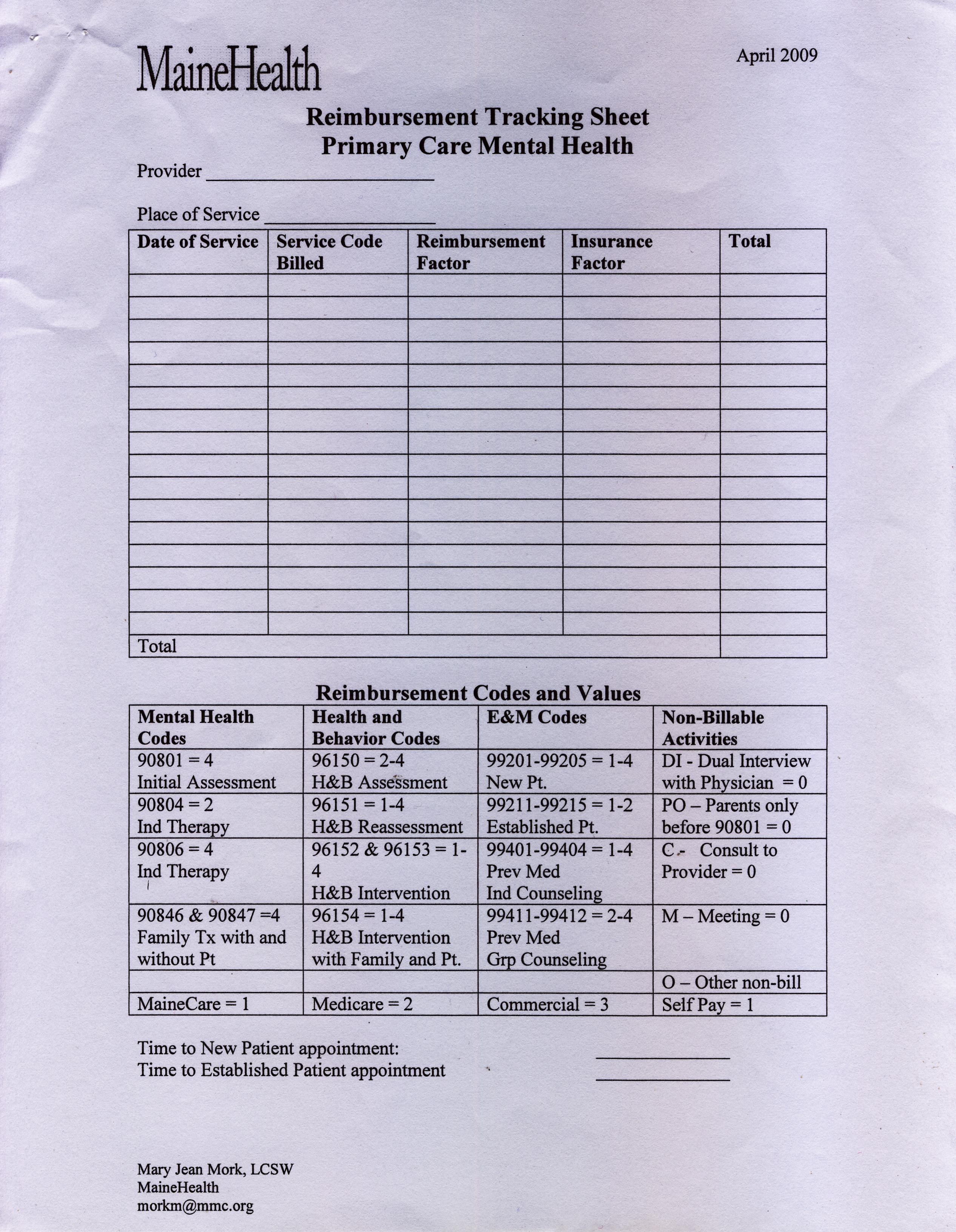 Patient Tracker Template. operational forms ibhp. printable ...