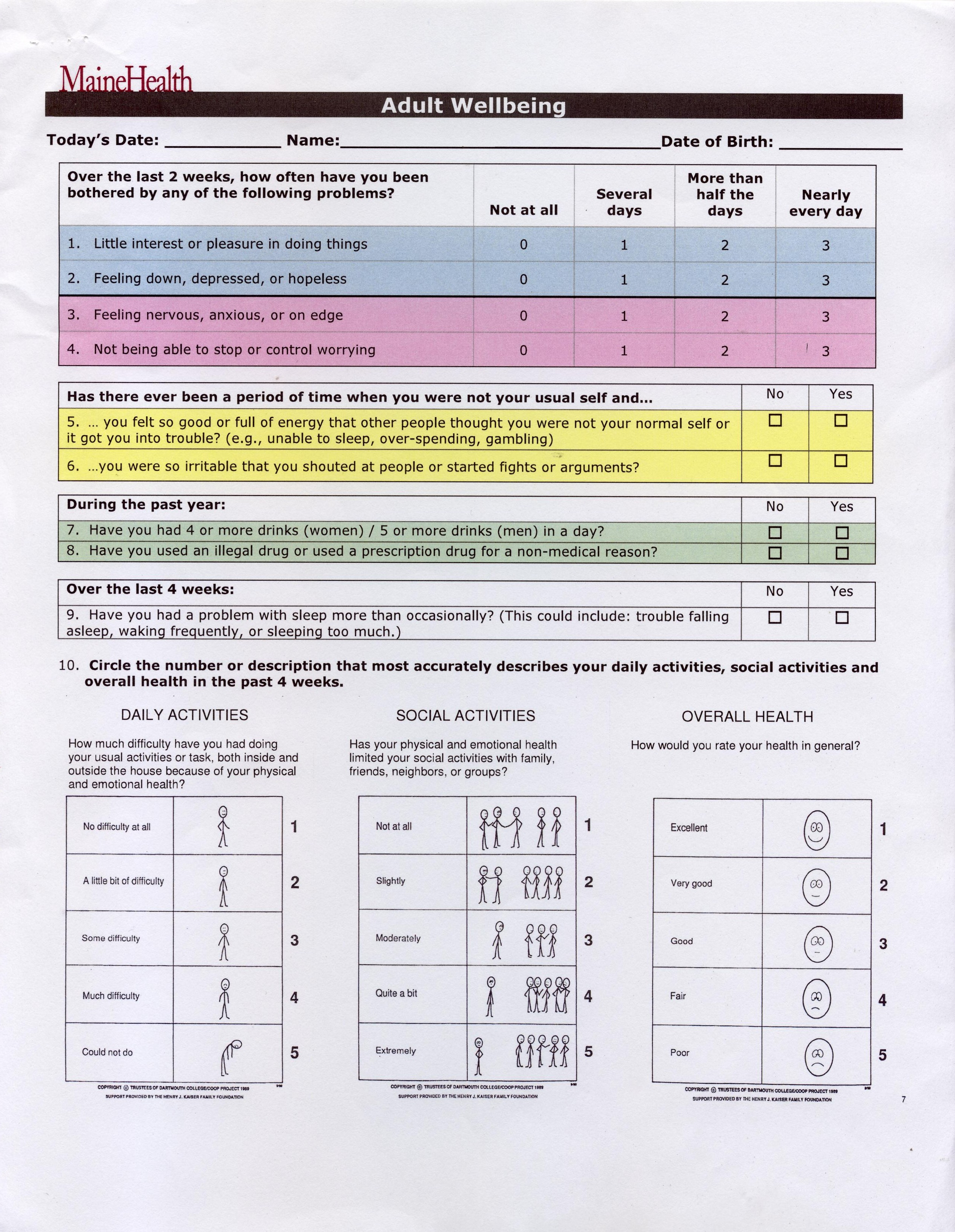 Health Assessment Questionnaire Template from www.ibhpartners.org